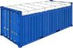 Открит отгоре 20 футов контейнер